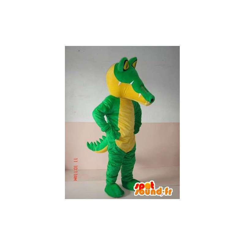 Mascotte klassieke groene krokodil - Sport Suit support - MASFR00300 - Mascot krokodillen