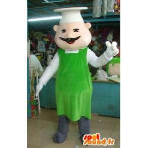 Mascot Chef - Zielona Fartuch - Chiński Akcesoria - MASFR00292 - Mężczyzna Maskotki