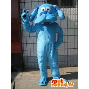 Μασκότ κλασικό μπλε σκυλιών - Animal βελούδινα βράδυ