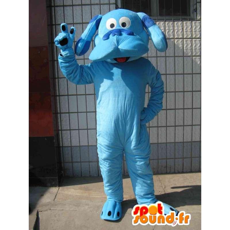 Classic blue dog mascot - Plush animal for evening - MASFR00283 - Dog mascots