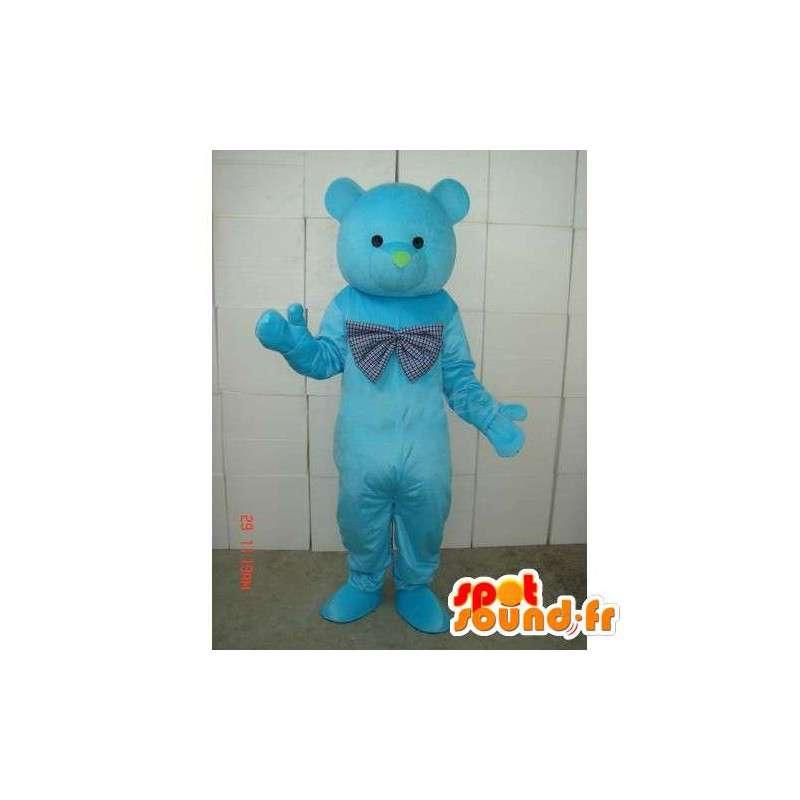Μασκότ Μπλε αρκούδες - Φέρει μπλε ξύλο - Λούτρινα Κοστούμια - MASFR00267 - Αρκούδα μασκότ