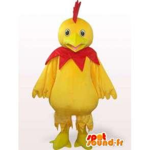 Κίτρινο και κόκκινο κόκορα μασκότ - Ιδανικό για σπορ ομάδα ή το βράδυ - MASFR00242 - Μασκότ Όρνιθες - κόκορες - Κοτόπουλα