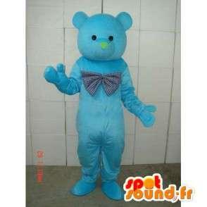 Μασκότ ροπή μπλε Teddy και Rose - ξύλο αρκούδα - Βελούδινα - MASFR00269 - Αρκούδα μασκότ