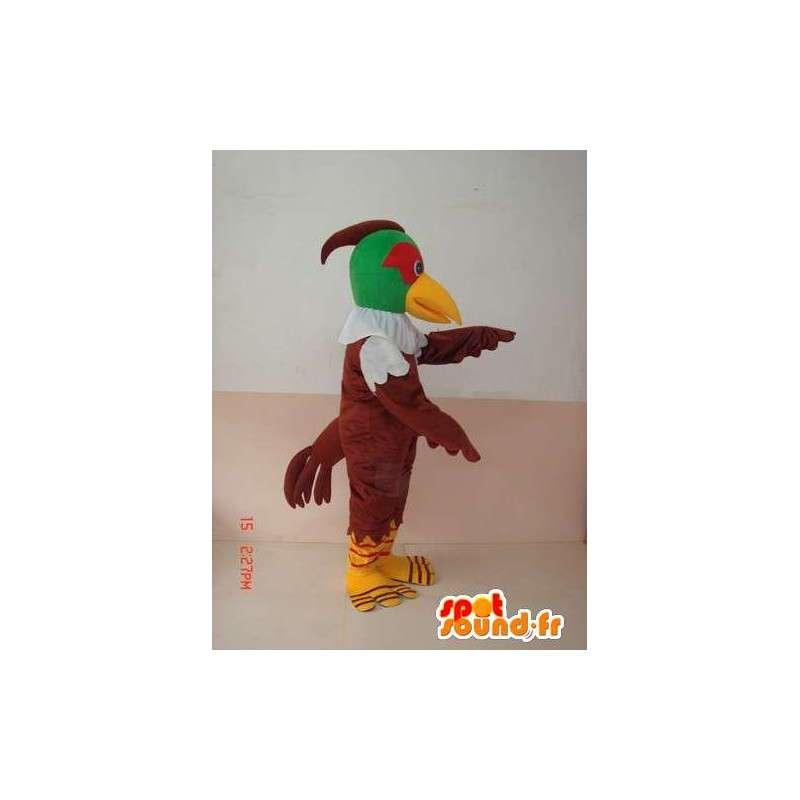 鳥 - マスコット緑と茶色のワシ - 獲物のコスチューム - MASFR00227 - マスコットの鳥