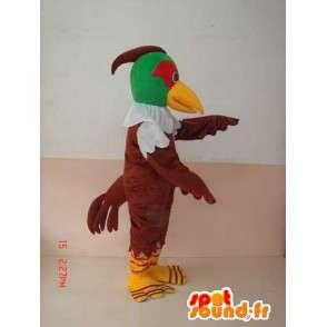 Maskot zelené a hnědé orel - Bižuterie z kořisti - Bird - MASFR00227 - maskot ptáci