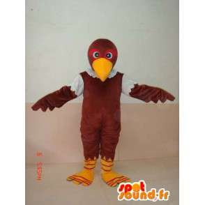 Green and brown eagle mascot - Costume Raptor - Bird - MASFR00227 - Mascot of birds