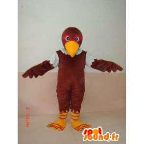 Mascot águia verde e marrom - Traje de rapina - Bird - MASFR00227 - aves mascote