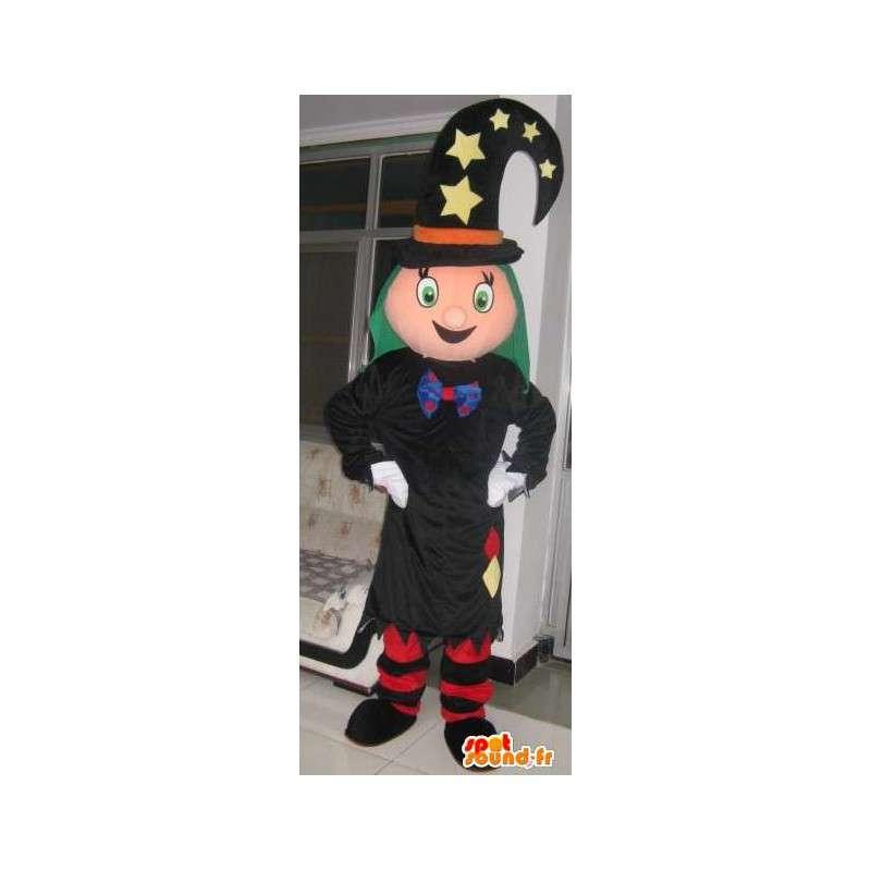 Μασκότ μάγος πριγκίπισσα με το καπέλο αστέρι - μεταμφίεση - MASFR00186 - νεράιδα Μασκότ