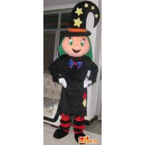 Mascotte princesse magicienne avec chapeau étoilé - Déguisement - MASFR00186 - Mascottes Fée