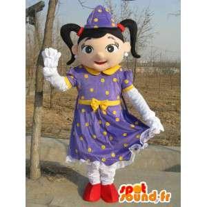 Maskot lilla heks prinsesse - Suit for arrangementer