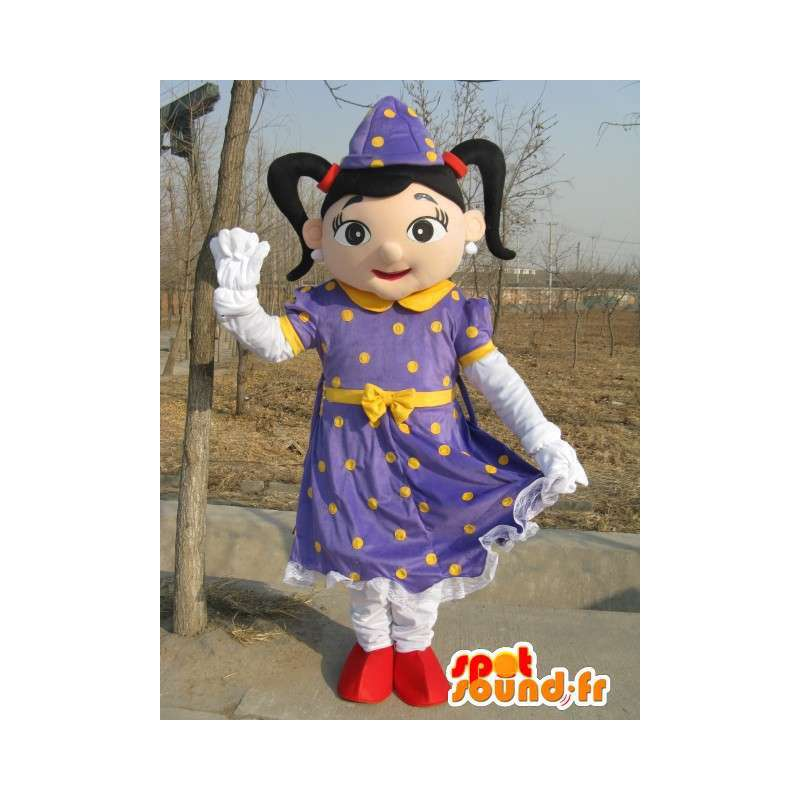 Mascotte paars heks prinses - Suit voor evenementen - MASFR00185 - Fairy Mascottes