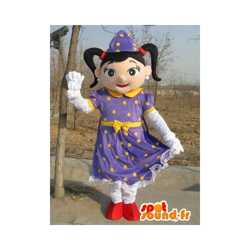 Principessa viola mago mascotte - Vestito per eventi - MASFR00185 - Fata mascotte