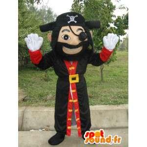 Mascotte Homme Pirate - Costume de Jack le pirate avec accessoires