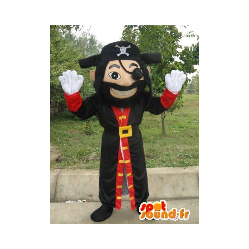 Man Mascot Piraat - Jack de piraat kostuum met toebehoren - MASFR00154 - man Mascottes