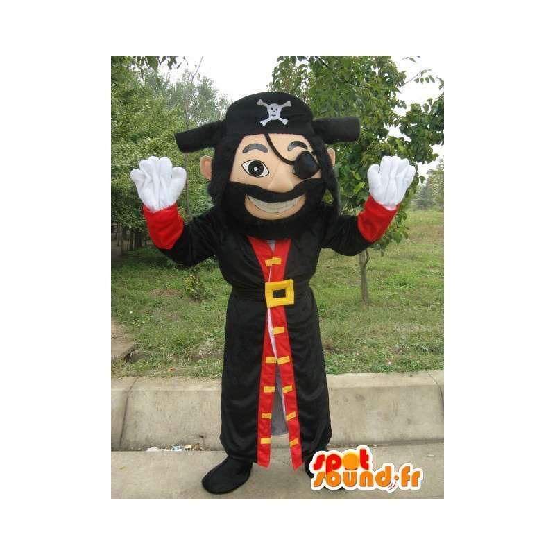 Maskottchen-Mann-Pirat - Piraten-Kostüm Jack mit Zubehör - MASFR00154 - Menschliche Maskottchen
