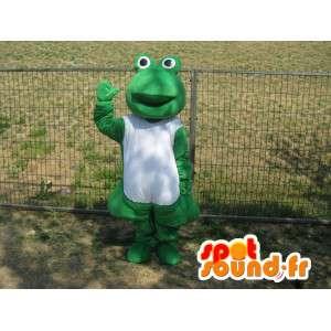 マスコットの古典的な緑のカエル - 病気のカエル