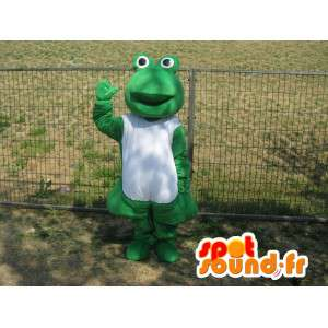 Green frog mascot classic - The sick frogs
