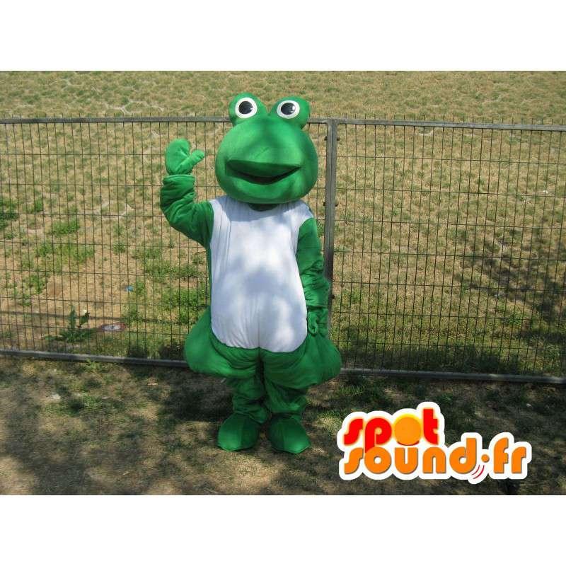 Verde classici mascotte rana - Le rane malate - MASFR00287 - Rana mascotte
