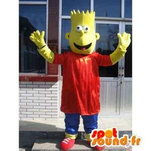 Mascotte Bart Simpson - La famille Simpson en déguisement - MASFR00155 - Mascottes Les Simpson