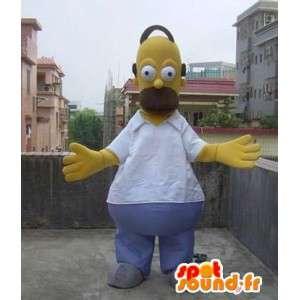 Déguisement de mascotte de Omer Simpson – Famille Simpson - MASFR00502 - Mascottes Les Simpson