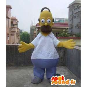 Mascote traje Homer Simpson - Família Simpson - MASFR00502 - Mascotes Os Simpsons