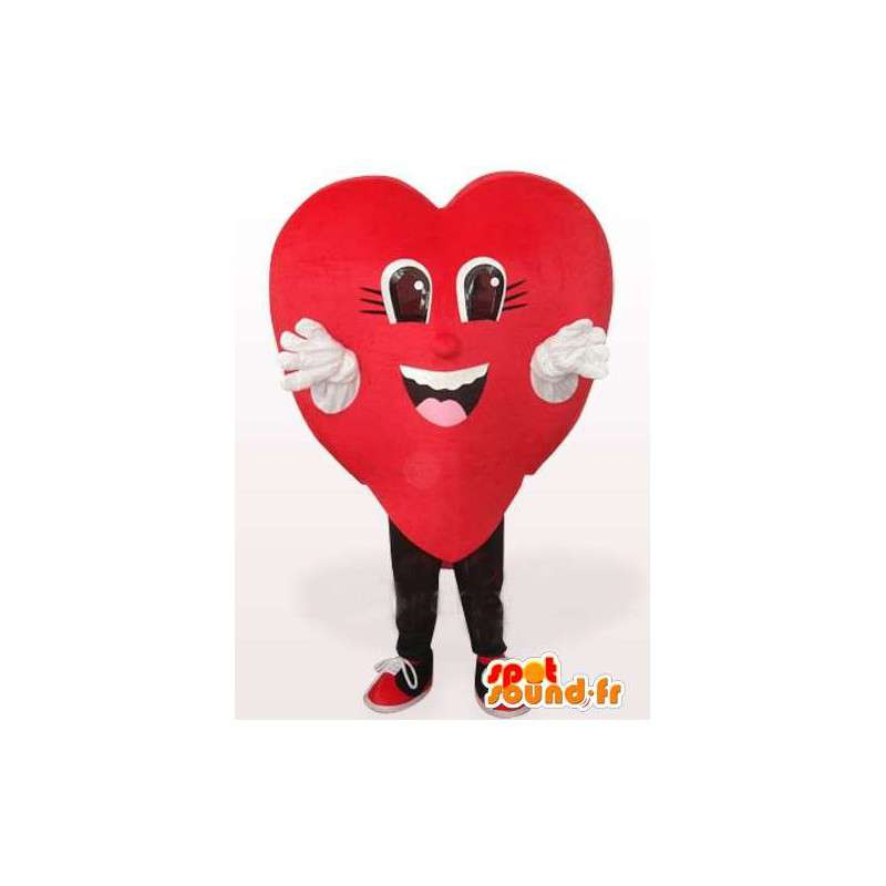 Maskot červené srdce - různých velikostí a rychlou dodávku - MASFR00140 - Neutajované Maskoti