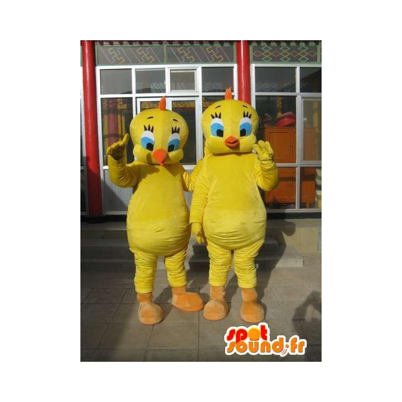 Mascot Tipi - Canary Yellow Pack 2 - kuuluisa henkilö - MASFR00181 - Maskotteja TiTi ja Sylvester