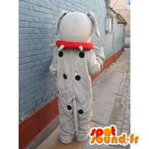 σκύλος μασκότ boulldog - φορεσιά μπάλα σκυλί με τα αξεσουάρ - MASFR00246 - Μασκότ Dog