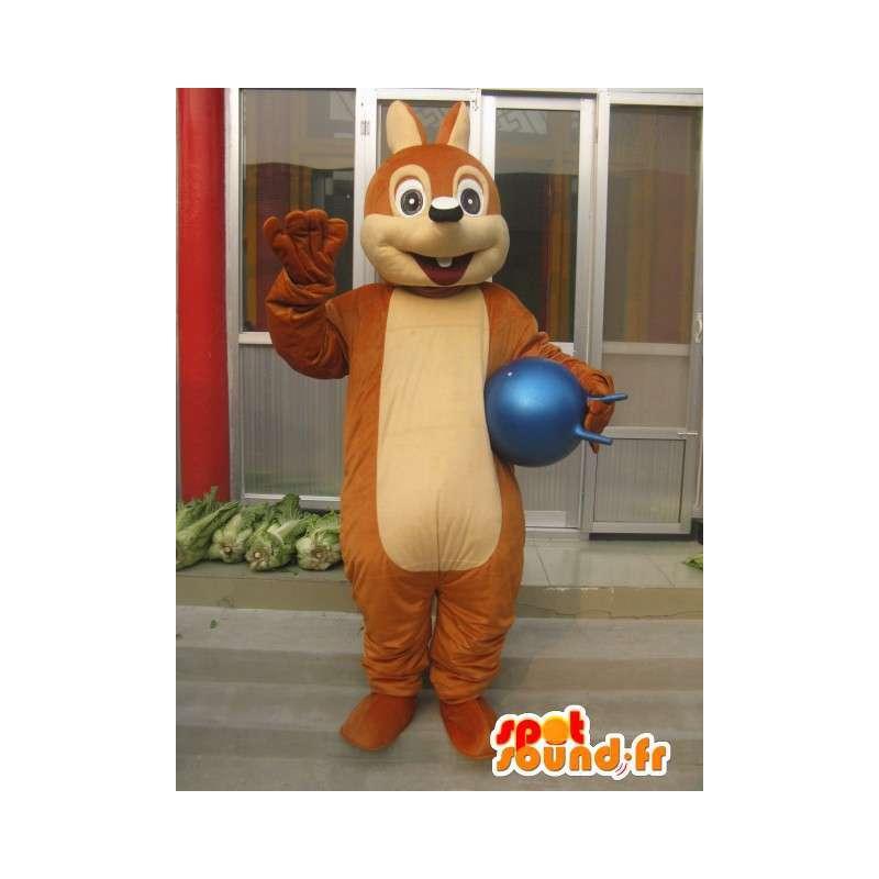 Klassische braunes Eichhörnchen-Maskottchen - Schneller Versand - MASFR00200 - Maskottchen Eichhörnchen