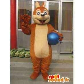 Classic brown squirrel mascot - Fast shipping - MASFR00200 - Mascots squirrel