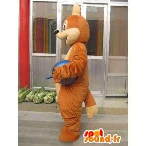 Maskot klassisk brun ekorn - Rask levering - MASFR00200 - Maskoter Squirrel