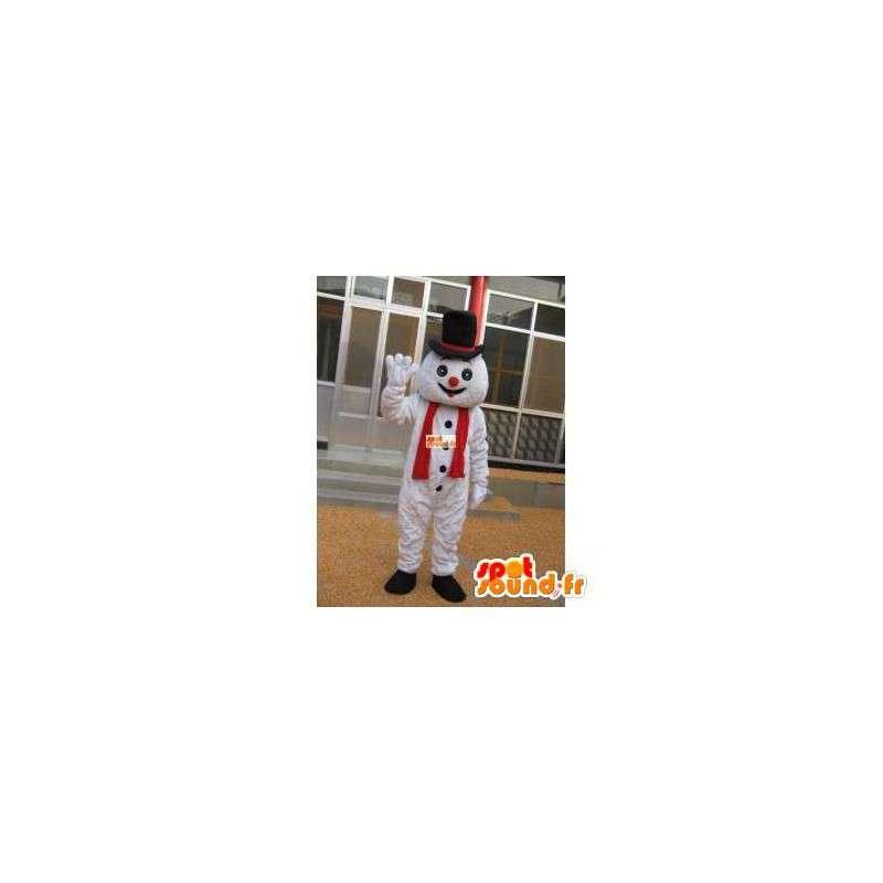 Mascotte bonhomme de neige avec accessoire chapeau - Déguisement - MASFR00201 - Mascottes Homme