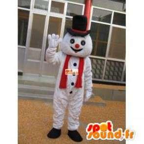 χιονάνθρωπος μασκότ με το καπέλο αξεσουάρ - μεταμφίεση - MASFR00201 - Ο άνθρωπος Μασκότ