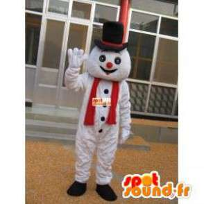 Sneeuwman mascotte met hoed accessoire - Disguise - MASFR00201 - man Mascottes