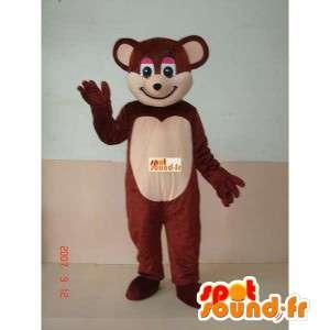 Mascot orsacchiotto - orso bruno costume per l intrattenimento
