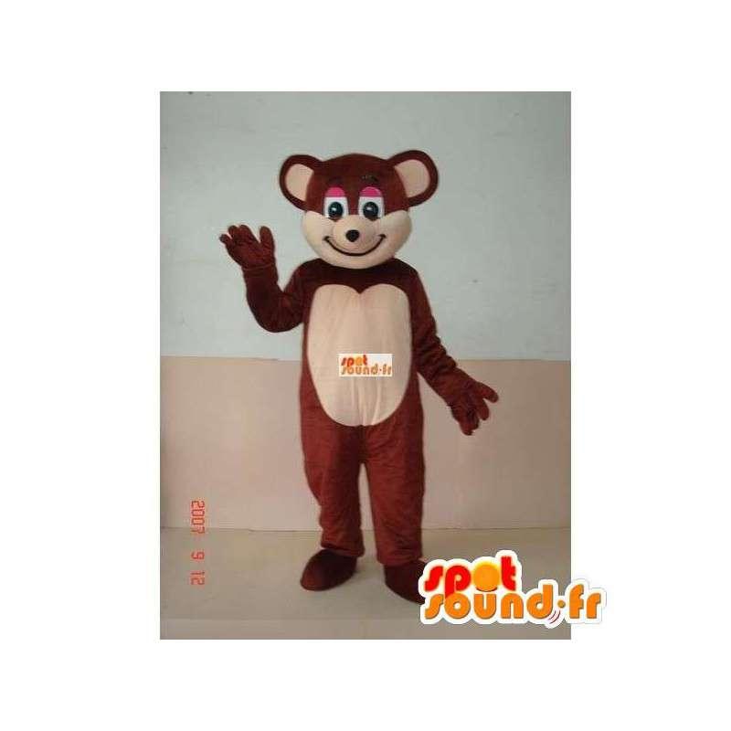Lille brun bjørnemaskot - Bjørnekostume til underholdning -
