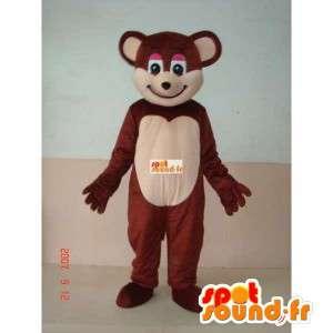 Mascot teddy bear - brown bear costume for entertainment - MASFR00235 - Bear mascot