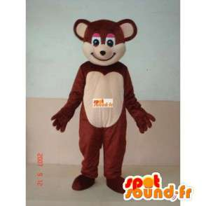 Mascotte liten brun bamse - bear suit underholdning - MASFR00235 - bjørn Mascot