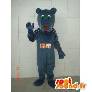 Mascotte van de tijger klassieke bruin grijs - Stof Panther Pluche