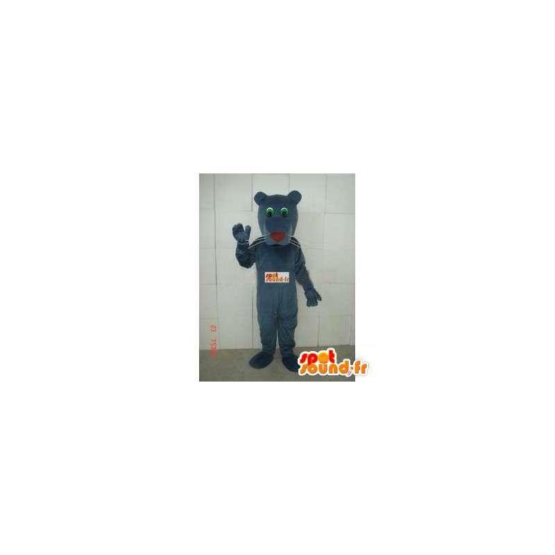 Tiger Mascot marrom cinzento clássico - Tecido Panther Plush - MASFR00286 - Tiger Mascotes