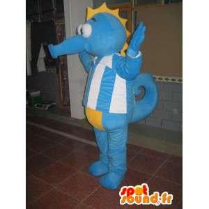 Hippocampus maskot - Animal Costume havet - blå drakt