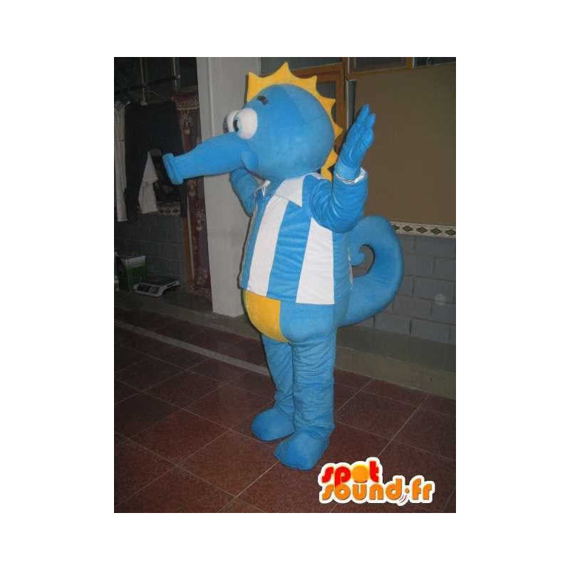 Hippocampus maskot - Animal Costume havet - blå drakt - MASFR00524 - Maskoter av havet