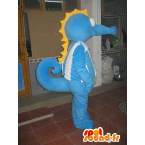 Hippocampus mascotte - Animal Costume oceaan - blauw kostuum - MASFR00524 - Mascottes van de oceaan