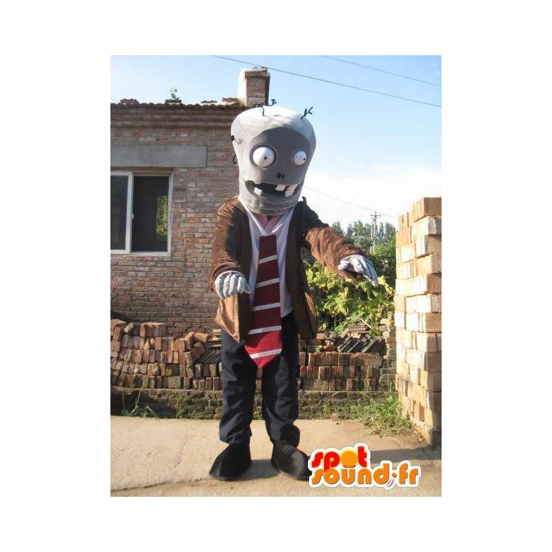 Mascotte mens robot pak en stropdas - MASFR00418 - man Mascottes