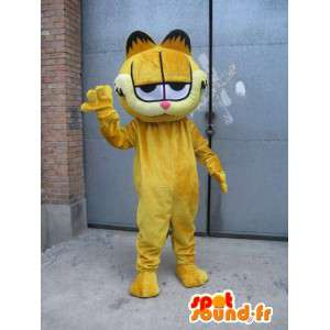 Famous mascot cat - Garfield - Costume yellow evening - MASFR00525 - Mascots Garfield