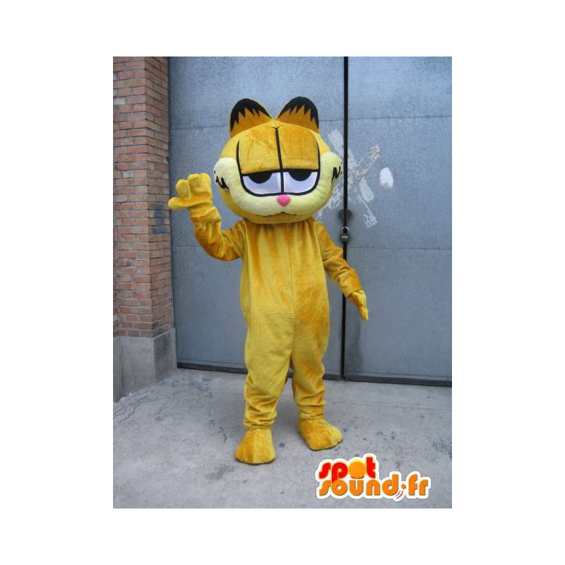 Mascotte famoso gatto - Garfield - Costume sera giallo - MASFR00525 - Mascotte Garfield