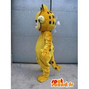 Μασκότ διάσημη γάτα - Garfield - κίτρινο κοστούμι βράδυ - MASFR00525 - Garfield Μασκότ