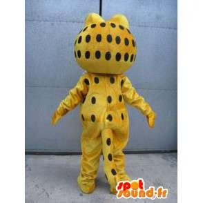 Famous mascot cat - Garfield - Costume yellow evening - MASFR00525 - Mascots Garfield