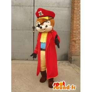 Squirrel Pirate mascotte - Costume per il travestimento animale - MASFR00165 - Scoiattolo mascotte