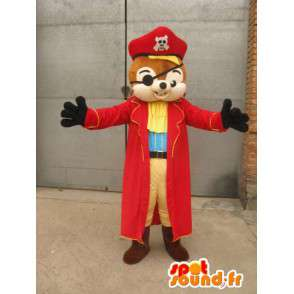 Maskot Pirate Veverka - Animal Costume pro přestrojení - MASFR00165 - maskoti Squirrel